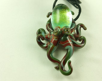Octopus - Glass Pendant Necklace