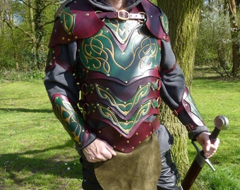 Elven Leather Armour / Armor / LARP / Cosplay / Fantasy / Hand Made