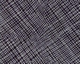 Thicket White on Black Crosshatch Yardage SKU# 48204-14 by Gingiber for Moda Fabrics