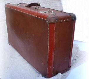 Cardboard suitcase etsy - Valise carton vintage ...