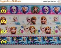 "On Sale 7/8"" Frozen Grosgrain Printed ribbon hair bow scrapbooking supplies"