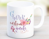Custom Mug / 11 or 15 oz. Mug / Personalized Mug / Custom Quote Mug / Large Mug / Birthday Gift / Customizable mug, Song lyrics mug, MU_68