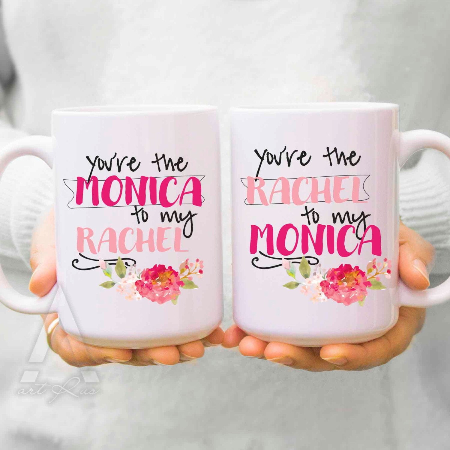 Best friend mugs christmas gifts you are the monica to Amazing christmas gifts for your best friend