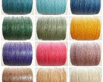 Sample Mix - 12 Colours - 1 Yard Of Each Colour - 7ply Irish Waxed Linen Cord