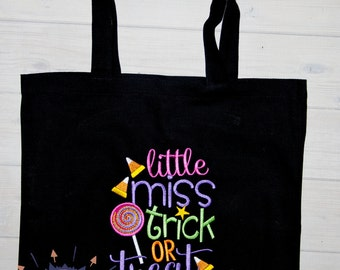 Halloween Trick or Treat Bag, Halloween Tote Bag, Trick or Treat Bag, Personalized Trick or Treat Bag