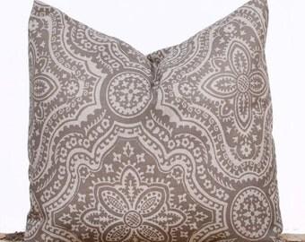 SALE ENDS SOON Brown Maze Throw Pillow Covers, Brown Pillows, Modern Sofa Cushions, 20 x 20