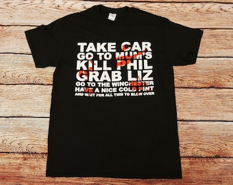 Shaun of the Dead Zombie Movie - Go to the Winchester T-shirt