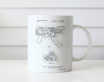 Ak-47 Bolt Locking Patent Mug, Gun Gifts, Assault Rifle, Gun Mug, PP0701
