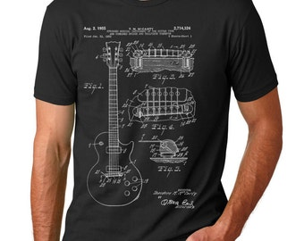 Gibson Les Paul Patent T Shirt, Guitar Shirt, Guitar Player Gift, Electric Guitar  PP0047 Z1016