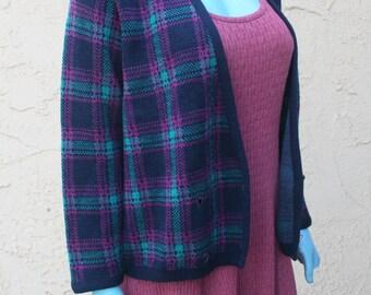 Vintage Pendleton Pure Virgin Wool Cardigan Sweater USA