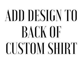 Add Design to Back of Shirt