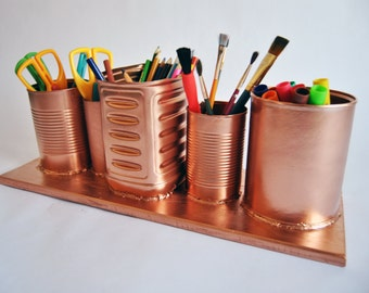 Recycled Copper Pencil Holder