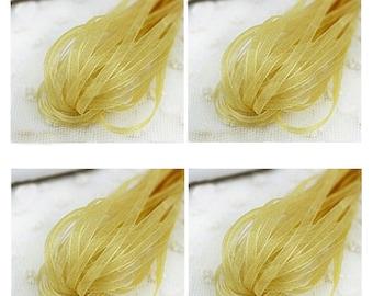 20 yd Golden Organza Ribbon-3mm