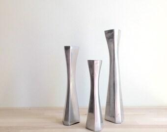 Modern Metal Candleholders