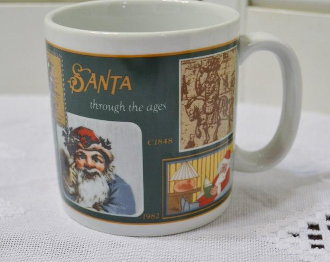 Vintage Santa Through the Ages Coffee Mug Christmas Holiday Decor Gallery Originals PanchosPorch
