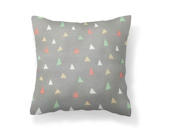 FOR BABY-Whimsical Triangles 16''X16'' Pillow Cover