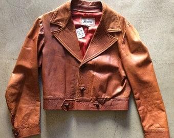 Vintage 1970's Abacus Leather Jacket