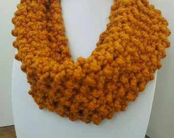 Knit Cowl - Butterscotch - Knit Scarf - Griggs Cowl
