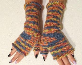 sale 20% off Ready to ship! sale ! striped  gloves women fingerless  long gloves  boho gloves winter gloves winter mitt christmas gift