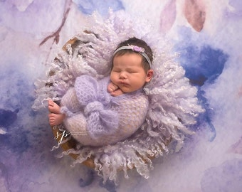 Newborn Mohair Wrap, Baby Wrap, Newborn Photography Prop, Newborn Wrap Prop, Baby Photo Prop Wrap, Mohair Baby Blanket