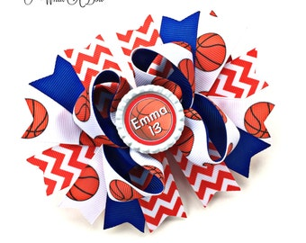 Basketball Bow, Basketball Hair Bow, Basketball Baby, Basketball Cheer Bows, Basketball Girl, Basketball Gift, Basketball Headband