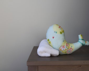 Whale Stuffed Animal - Blue Baby Toy - Stuffed Animal & Toy