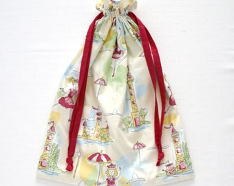 50% OFF Drawstring Bag / Storage / Toy / Library Bag - Princesses