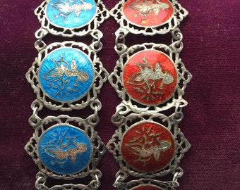 ANTIQUE SIAMESE BRACELET Old Nelloware Sterling Bracelet. Antique Sterling Siamese jewelry