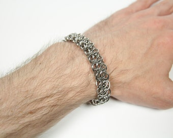 AGSG Bracelet, Chainmaille Bracelet, Stainless Steel, Chainmail Bracelet, Chain Maille, Chain Mail, Mens Bracelet, Mens Jewelry