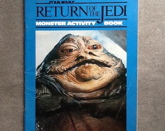 Vintage Original Star Wars Return Of The Jedi Monster Activity Book By Random House Inc. From 1983