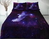 Purple galaxy bedding set of 4 pieces purple single/twin/twin xl/full/double/queen/king bedding set best Christmas gift