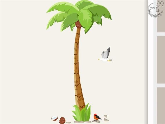 Wandtattoo palme big f r kinderzimmer kinder - Palme zimmer ...
