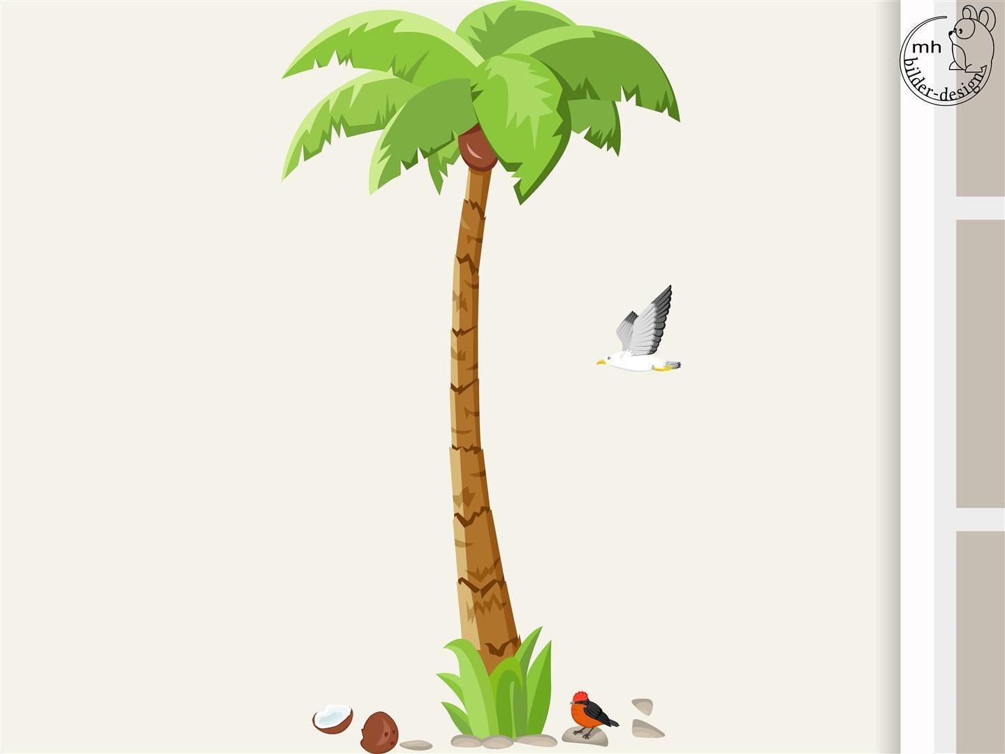 Wandtattoo palme big f r kinderzimmer kinder babyzimmer - Palme zimmer ...