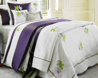 NEW Yves Delorme  Queen Duvet & Pillow covers (bought in 90's for 1200)