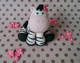 fondant zebra cake topper