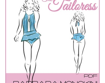 Bárbara Monokinig PDF Sewing Pattern sizes 4-18