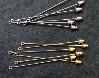 20pcs 50mm long silver / gold Hijab Pin / Shawl Pin base