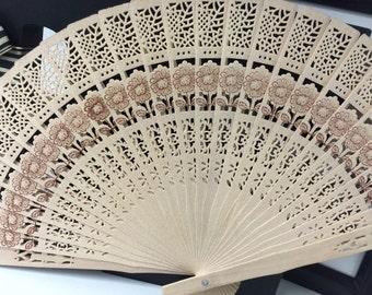Aromatherapy Wooden Fan