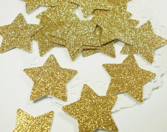 Twinkle Twinkle Little Star Confetti, Glitter Gold Star Confetti, Birthday Party, Table Confetti, Party Decorations 50