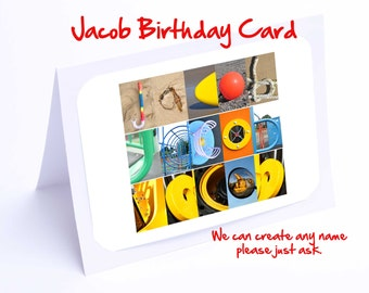 Jacob Personalised Birthday Card
