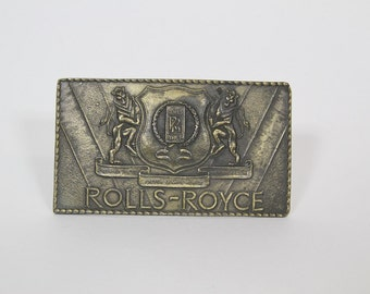 Vintage Brass Rolls Royce Belt Buckle