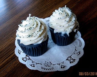 """Black """"You're Getting Old"""" Birthday Cupcake Candle"""