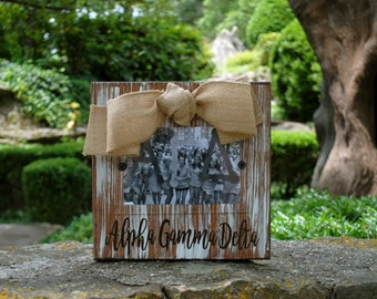 Alpha Gamma Delta Whitewashed Rustic Frame