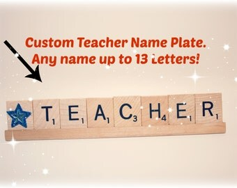 Star Teacher, Star Teacher Gift, Teacher Name Plate, Teacher Appreciation Present,  Teacher Gift, Custom Teacher Gift, School, Elementary
