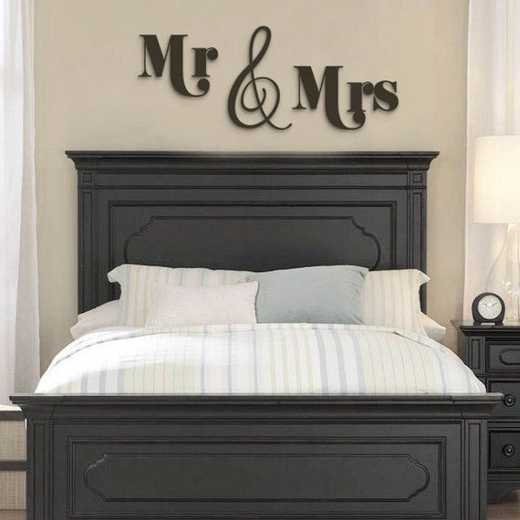 Bedroom Decor From Mr Price Home Bedroom Furniture Metal Bedroom Design Ideas For Apartments Romantic Bedroom Paint Colors Ideas: MR & MRS Wood LettersWall Decor-Painted Wood Letters Wall