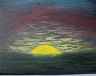 Sunset  - Acrylic Painting