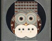 "Reserve Sale for Donna, ""Family Owlbum"" Craftsman Clock"