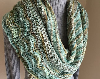 Large Handmade Two Color Shawl Wrap