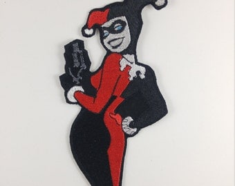 Fully Embroidered Harley Quinn Patch