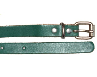 Vintage genuine leather belt green TW 95